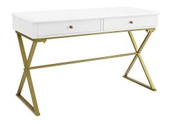 Linon Home Decor Products Harli Two-Drawer Campaign,...