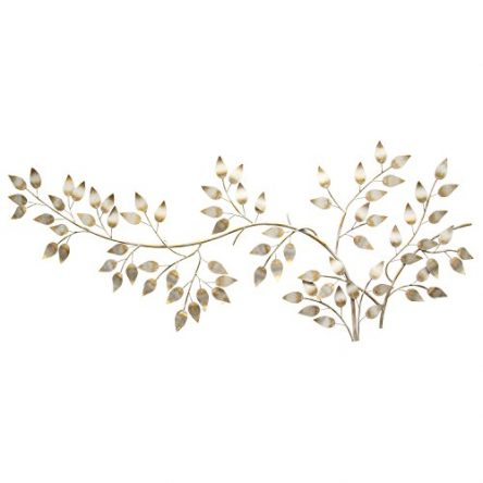 Stratton Home Decor SHD0106 Brushed Flowing Leaves...